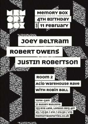 Memory Box 4th Birthday - Joey Beltram & Robert Owens + Acid Warehouse Rave