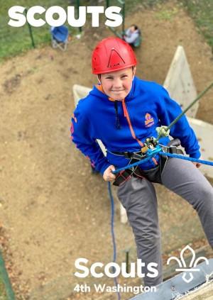 Scouts kayaking/Bellboating