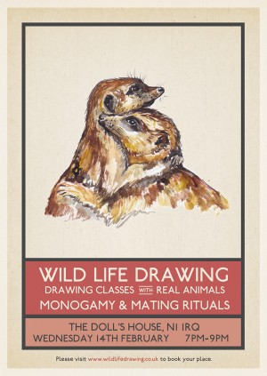 Wild Life Drawing: Monogamy & Mating Rituals