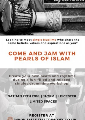 Single Muslims Event … Jam with Pearls of Islam