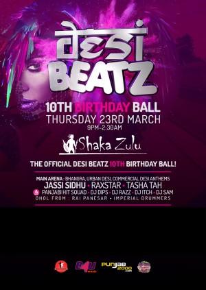 Desi Beatz - The Official 10th Birthday Ball!