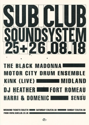 Sub Club Soundsystem 2018