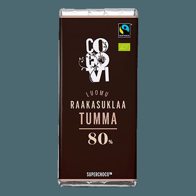 Raakasuklaa Tumma 80%
