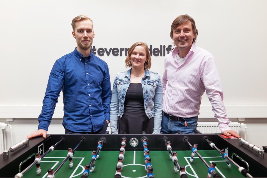 Evermade admin team: Otto, Iina and Sami
