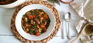 Organic spring beef and potato stew recipe organic ingredients, grass-fed beef diced