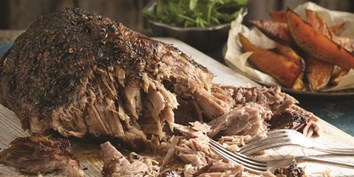 Organic pork shoulder slow cooked in smoky sauce then charred on the barbecue to tender perfection.