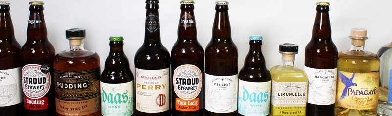 A wonderful selection of UK produced organic beer, lager, cider and spirits for UK home delivery.
