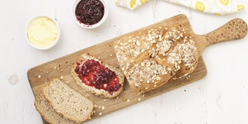 Sweet with nuts, seeds and dried fruit, this muesli bread is great for an organic breakfast treat.