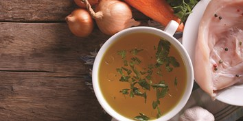 Nutritious and immune-boosting bone broth is simple and cost-effective to make from organic chicken.