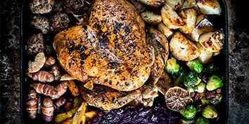 Recipe ideas for cooking your organic Christmas dinner, including organic Christmas turkey.