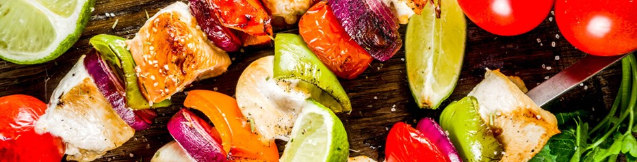 Fire up the BBQ with our organic grass fed meat and seasonal summer veg, including organic sausages.