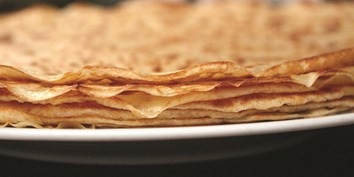 Classic french crepes great for cooking up with kids at home! Using organic dairy and eggs.