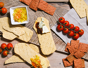 Delicious crackers for cheese and flatbreads perfect for antipasti sharing platters or quick lunch.