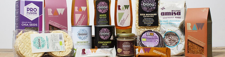 Our selection of vegan and vegetarian foods and meat substitutes from brands like Biona & Bonsan.