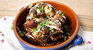 Simple recipe for whole roasted cauliflower with flavoursome spices.