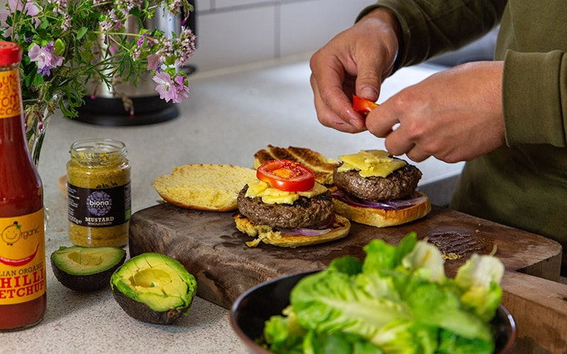 what are the best burger toppings for organic grass fed beef