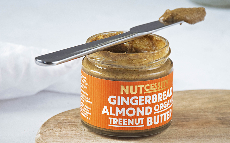 nutcessity gingerbread almond nut butter