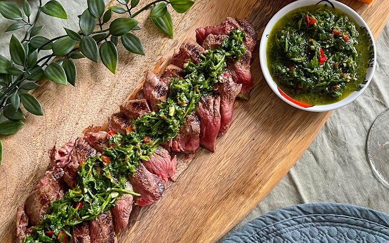 organic grass-fed beef fillet steaks valentines recipe