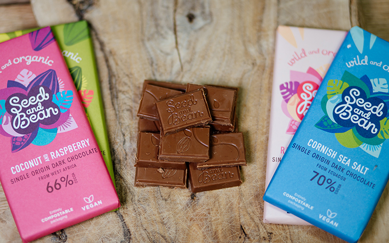 organic chocolate from ethical producers seed and bean