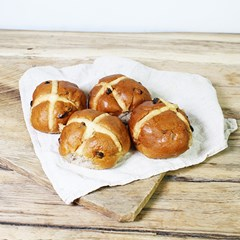 Authentic Bread Co. Large Hot Cross Buns | Organic Bread