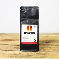 Owen's Tunki Medium Ground Coffee | Organic Tea & Coffee
