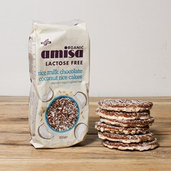Amisa Organic Coconut Chocolate Rice Cakes