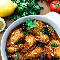 Organic chicken tagine recipe box