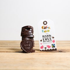 Organic Dark Chocolate Love Hearts