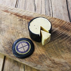 Godminster Waxed Vintage Black Truffle Cheddar | Organic Cheese