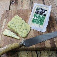 Marble Wedge - Garlic & Herb | Organic Cheese