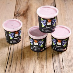 Blueberry Yoghurts (4 x 145g) | Organic Yoghurt and Dairy