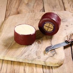 Godminster Small Waxed Round Vintage Cheddar | Organic Cheese