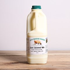 Jersey Semi Skimmed Milk | Organic un-homogenised milk