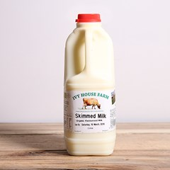Jersey Skimmed Milk | Organic un-homogenised milk