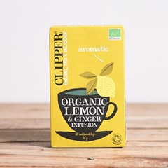 Clipper Lemon & Ginger Tea x 20 | Organic Tea & Coffee