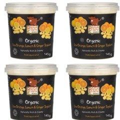 Brown Cow Organics Orange, Lemon & Ginger Yoghurt (4 x 145g) | Organic Yoghurt and Dairy