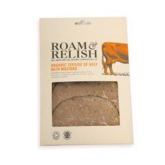 Roam & Relish, Topside of Beef with Mustard | Organic Charcuterie