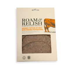 Roam & Relish, Topside of Beef with Peppercorns | Organic Charcuterie