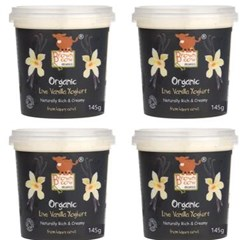 Brown Cow Organics Vanilla Yoghurt (4 x 145g) | Organic Yoghurt and Dairy