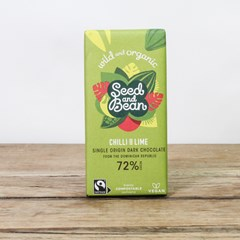 Seed & Bean Extra Dark 72% Chocolate - Chilli & Lime