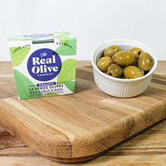 Real Olive Co Wild Garlic & Basil Olives
