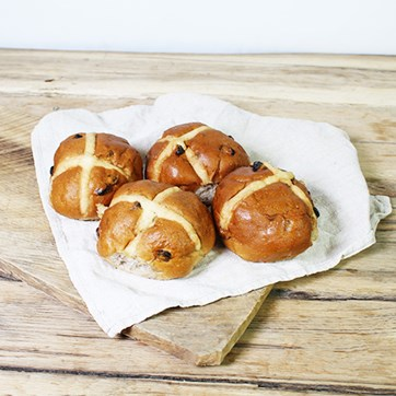 Authentic Bread Co. Large Hot Cross Buns
