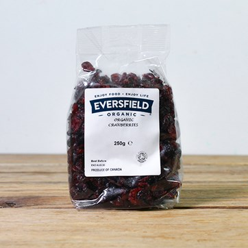 Eversfield Organic Dried Cranberries