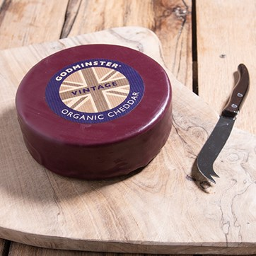Godminster Large Waxed Vintage Cheddar Round