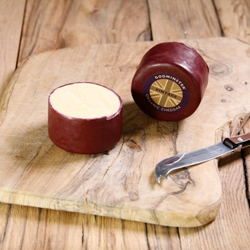 Godminster Small Waxed Round Vintage Cheddar
