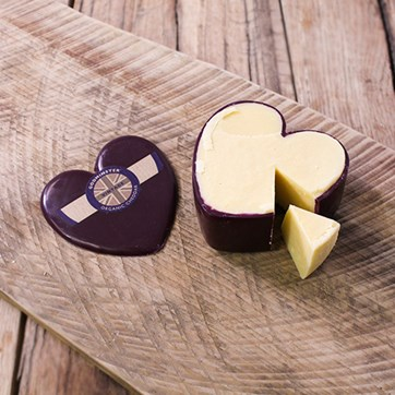 Godminster Waxed Heart Vintage Cheddar