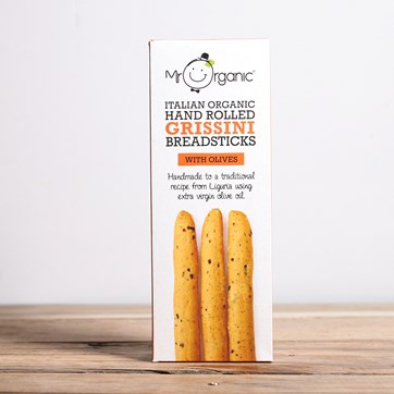 Mr Organic Olive Grissini Breadsticks