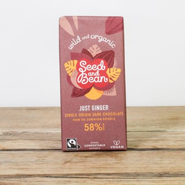Seed & Bean Dark 58% Chocolate - Ginger
