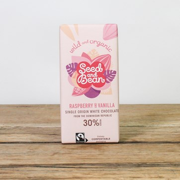 Seed & Bean White Chocolate - Raspberry & Vanilla