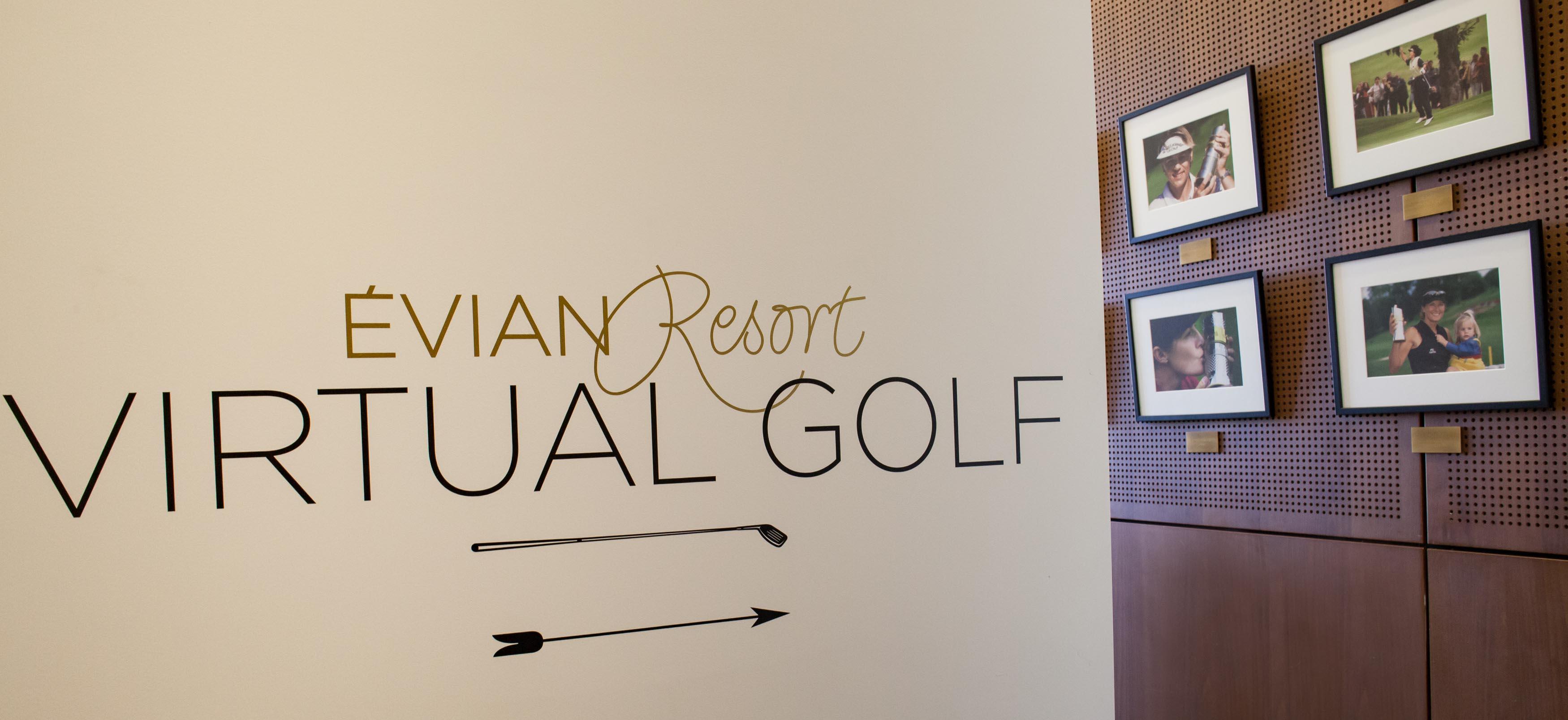 Indoor Golf Simulator At The Evian Resort With Golfzon